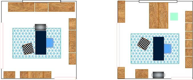 Color Filled Cottage Office Floor Plan Options