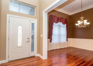 Color Filled Cottage Formal Dining Room By Entry