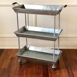 Zinc 3 Tray Bar Cart_Office_Color Filled Cottage