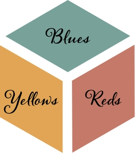 Whole House Blues Reds Yellows Color Scheme